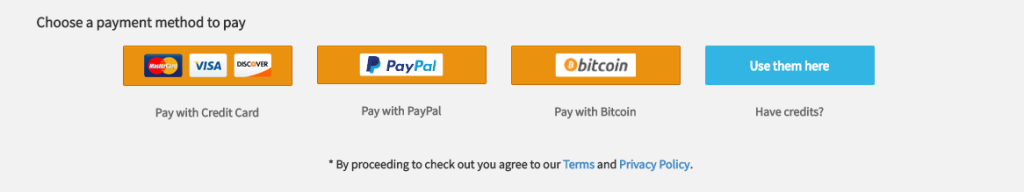 BTC Payment Method and Paypal with BRM